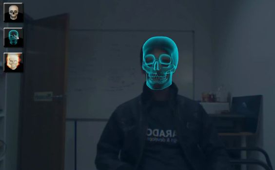 Kinect Face Tracking demo with mouth control - Skulls App - lite-C