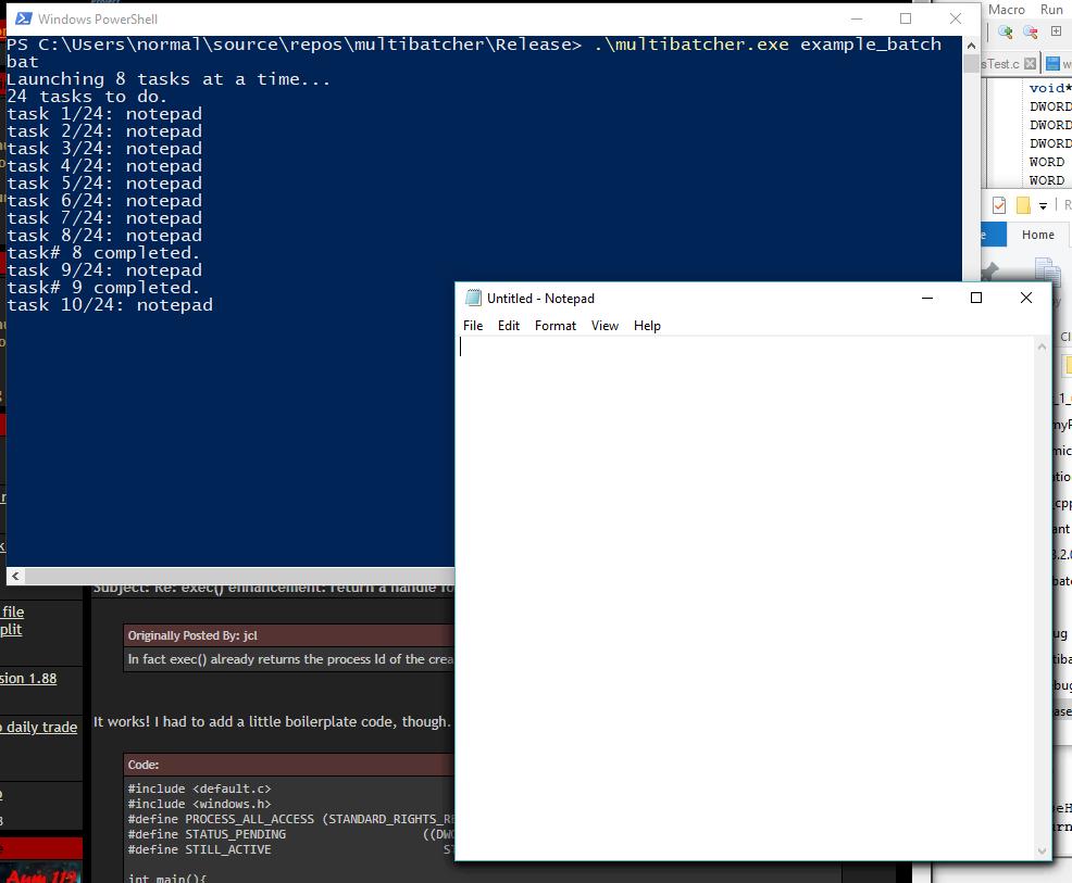 exec() enhancement: return a handle for tracking - lite-C Forums
